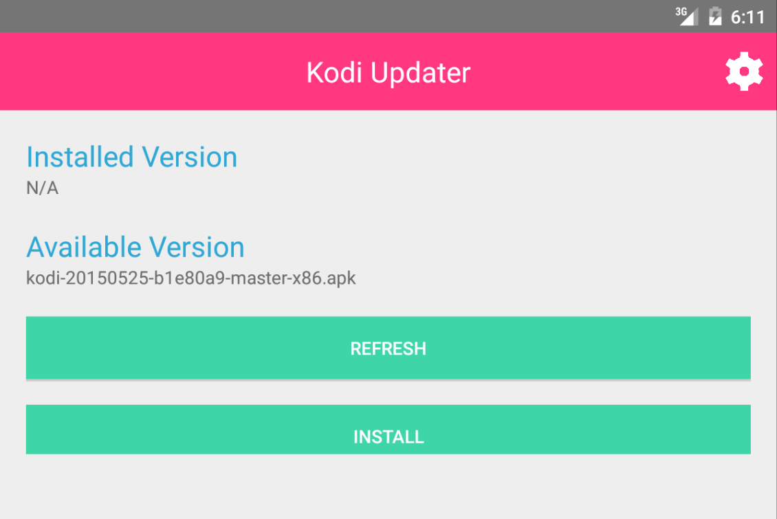 Kodi Updater- screenshot