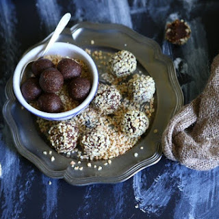 Almond Truffles with Coconut Syrup and Tonka Bean Recipe