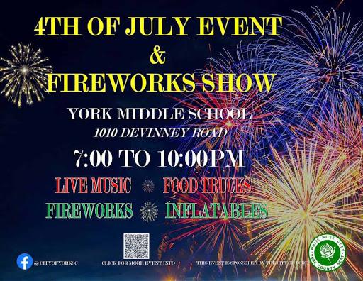 Fireworks in York, South Carolina