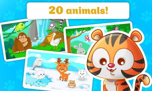 子供のためのパズル - 動物