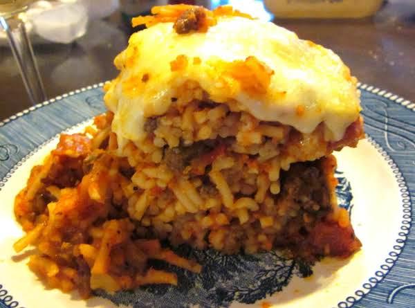 Pepperoni Baked Spaghetti