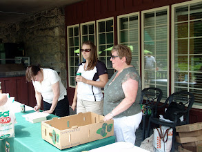 Photo: The Welcome Desk, womaned by Cynthia Gillis, Posy Healey, and Cathy Godin