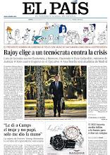 Photo: Hoy en nuestra portada, 'Rajoy elige a un tecnócrata contra la crisis', 'El BCE inyecta medio millón a la banca' y las revelaciones de la cajera de Forever Young que desmontan la versión de Camps: http://www.elpais.com/static/misc/portada20111222.pdf