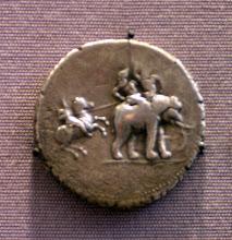 Photo: Porus medallion celebrating Alexander's victory. 325 BC (still not sharp, unfortunately!)