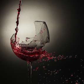 splash of wine by Curtis Jones - Artistic Objects Other Objects ( wine, splash, broken wine glass, wine glass )