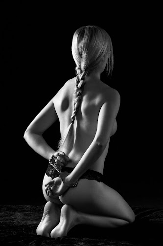 Bound by Martin Zenisek - Nudes & Boudoir Artistic Nude ( nude, girl, black and white, blond,  )