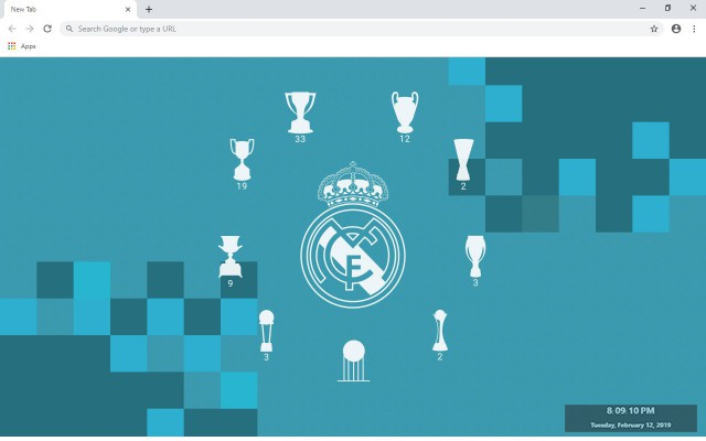 Real Madrid New Tab & Wallpapers Collection