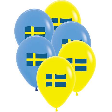 Ballonger, svenska flaggan 6 st