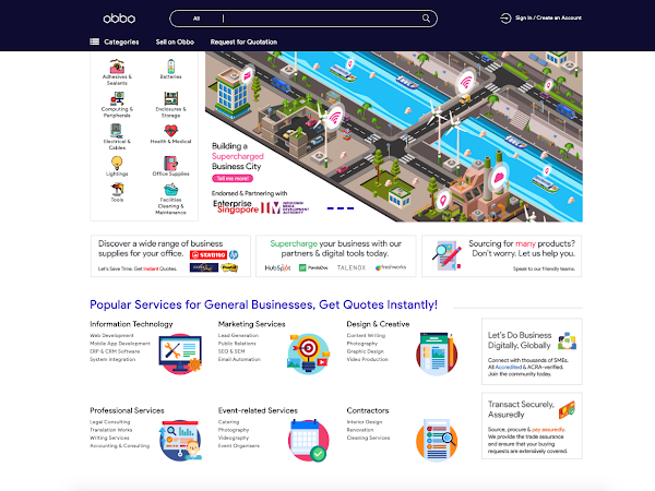 Obbo Marketplace - Singapore Largest & Top One-Stop Business