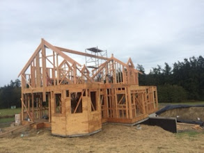 Photo: Roof beam in place!