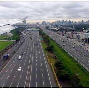 The road to Makati City by Steve Albano - City,  Street & Park  Skylines ( makati skyline, south super hi-way, slex )