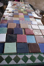 Photo: Tiles at the ceramic cooperative we visited outside Fes
