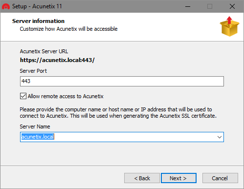 Allow Remote Access to Acunetix