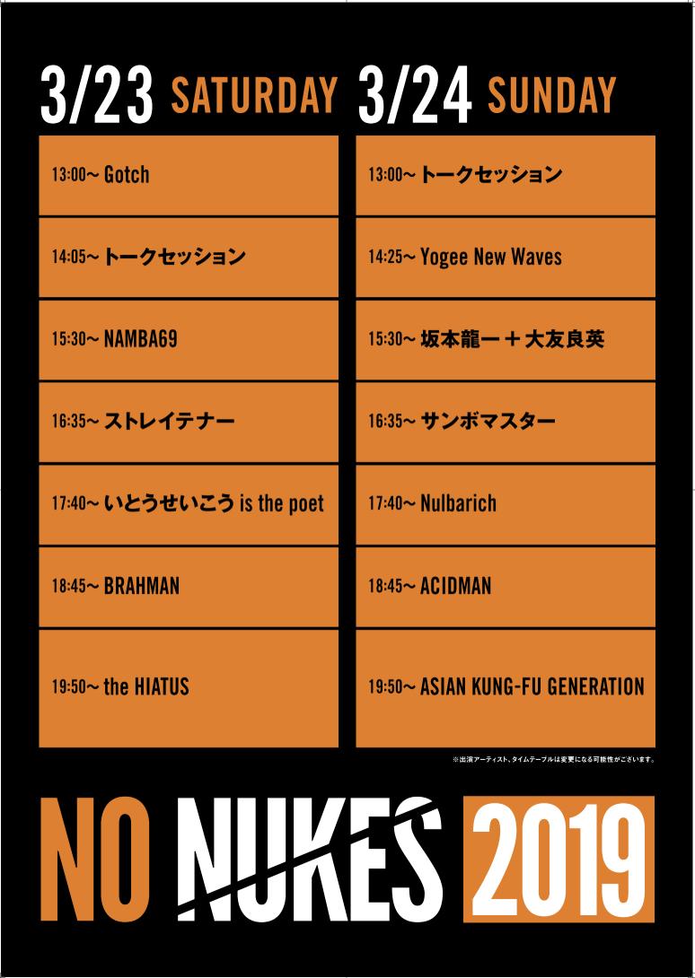 [迷迷音樂] 坂本龍一 為首 反核音樂祭「NO NUKES 2019」下週在東京豐洲PIT登場