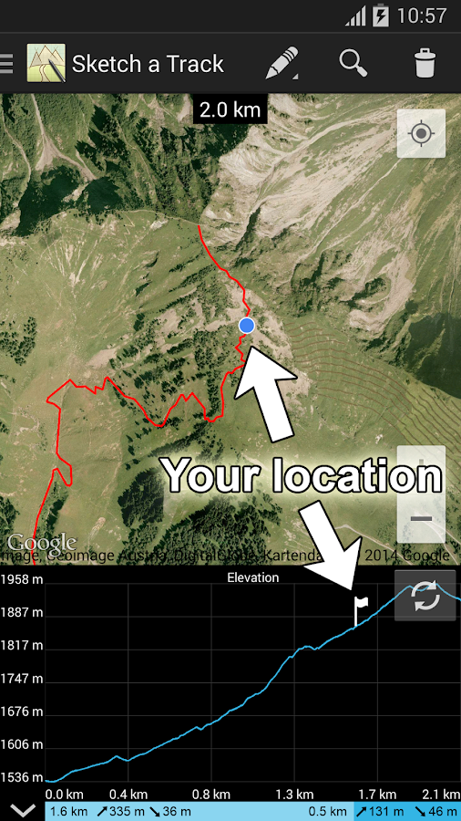 Sketch a Track - GPX Viewer- screenshot