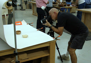 Photo: Mike Colella shooting S&T Gallery stills