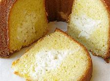 Lemon Cheese Filled Cake Recipe