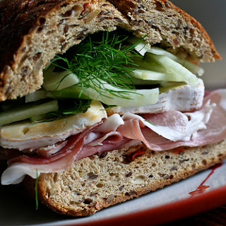 Prosciutto Sandwich w/Basil Apple Fennel Slaw