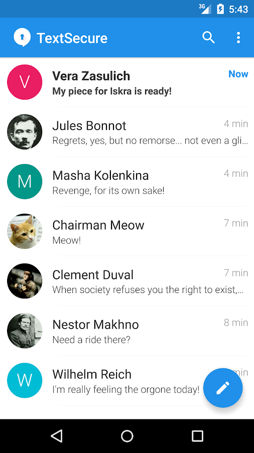 TextSecure Private Messenger- screenshot