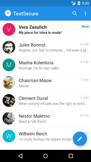 0 TextSecure Private Messenger App screenshot