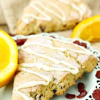 Gluten-Free Orange Cranberry Scones.