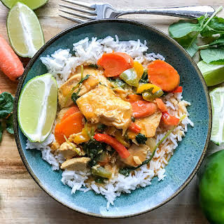 Thai Chicken And Vegetable Coconut Curry.