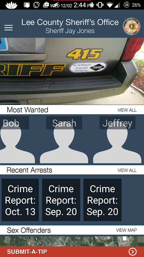 Lee County Sheriff's Office- screenshot