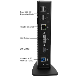 Surface Pro 3 compatible - Plugable® UD-3900 USB 3.0 SuperSpeed Universal Docking Station