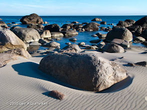 Photo: Rocky beach just North of Brusand, Jæren (Southwestern coast of Norway)