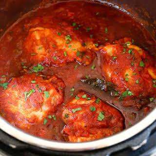 Instant Pot Chicken Cacciatore.