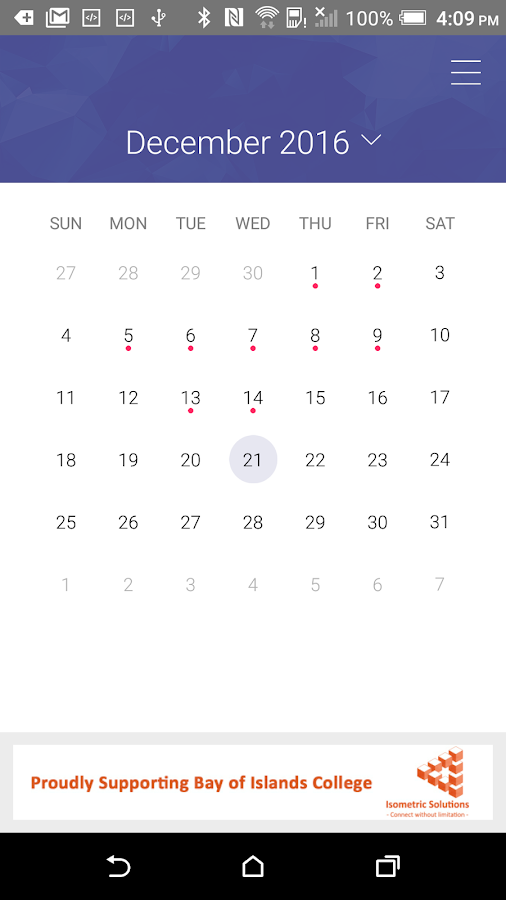 Parent Teacher Calendar App- screenshot
