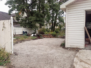 Photo: 5.5 tons of gravel! Nice and compressed. Now we just need a fence solution!