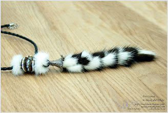 Photo: Fur Cravat in Black ahd White - Краватка – Чорно-біла хутряня історія