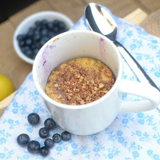 Lemon Blueberry Crumb Cake In A Mug.