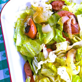Southern Fried Cabbage with Kielbasa.
