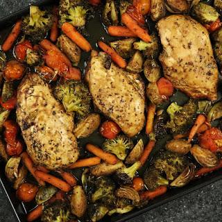 One-Pan Balsamic Chicken & Veggie Dinner Recipe