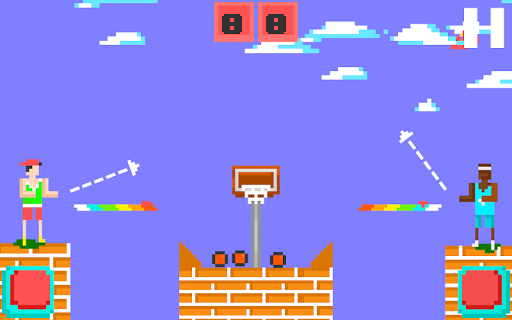 バスケットボールシュートピクセル