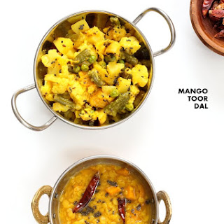 Mango Dal - Easy Toor Dal Soup with Mango.