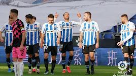 Raúl de Tomás celebra el 1-0.