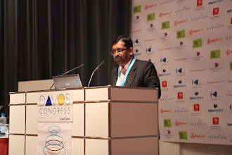 "Photo: Yogesh Joshi presenting - ""Comms Associations' Mission Today""- 2012"