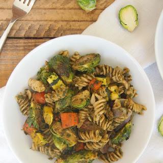 Roasted Fall Vegetable Pesto Pasta