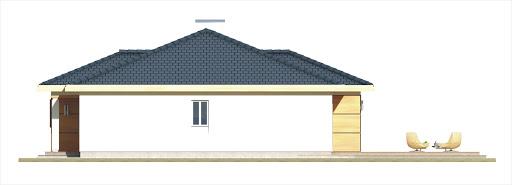 Milenka wersja B z podwójnym garażem - Elewacja lewa