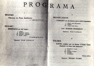 Photo: Programa de concert (28/10/1934) © Biblioteca de l'Orfeó Català
