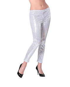 Leggings, silverglitter