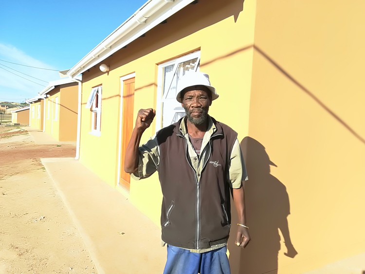 Xolile Kom said he was delighted to be in an RDP house after living in a shack for over 20 years.