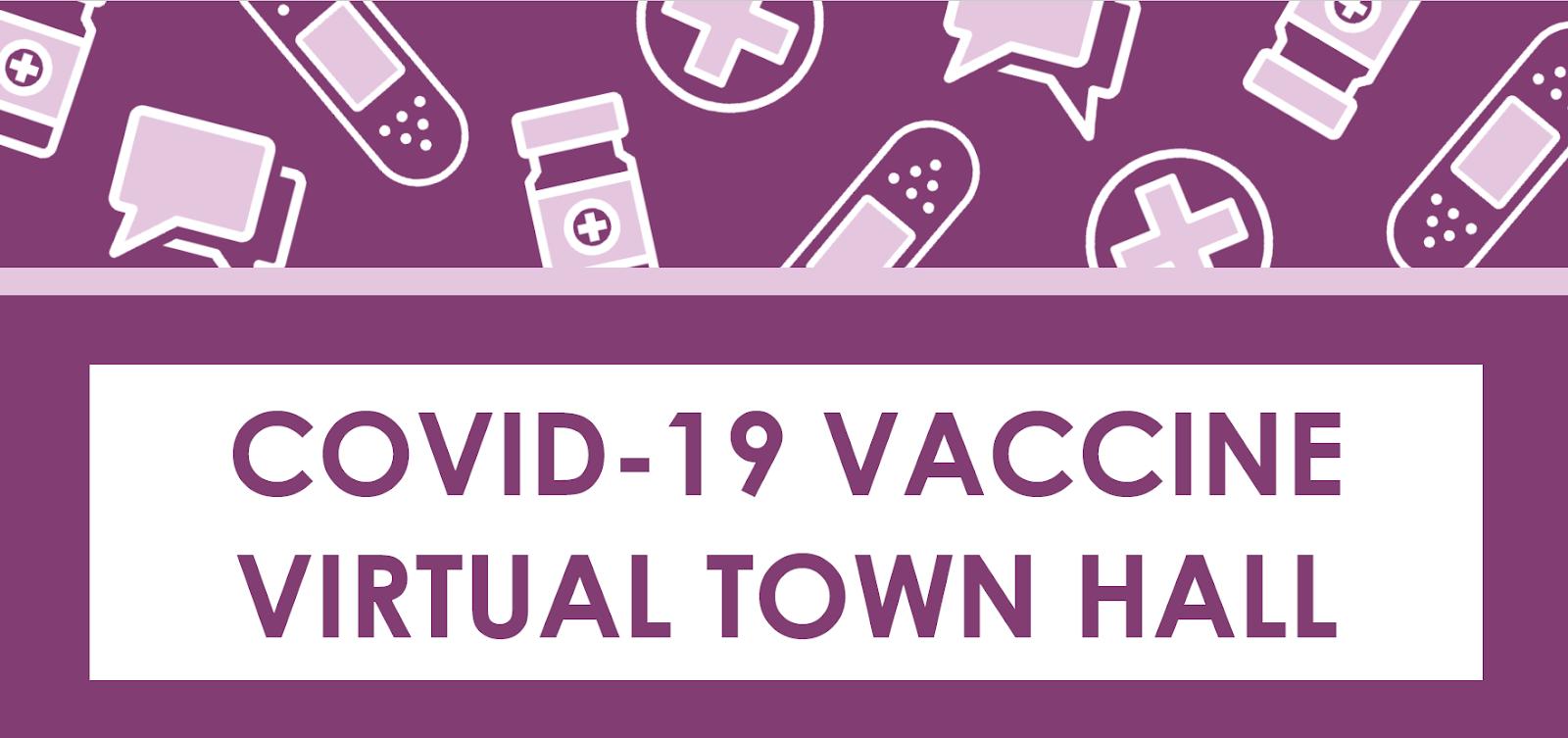 covid vaccine town hall logo