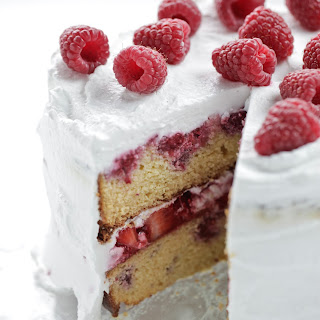 Berry + Coconut Celebration Cake.