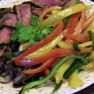 Skirt Steak Fajitas with Tequila Orange Lime Marinade