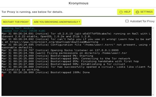 Kronymous - Access internet via Tor Network Screenshot