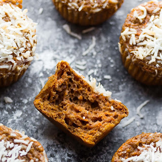 Coconut and Carrot High Protein Muffins
